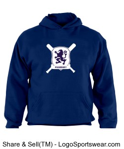 Youth Russell  Dri-POWER Pullover Hooded Sweatshirt Design Zoom